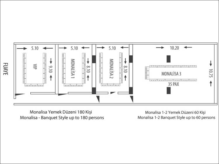 HOTEL İÇKALE ::  Monalisa Saloons